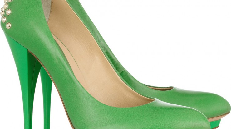 MCQ-studded-green-pumps