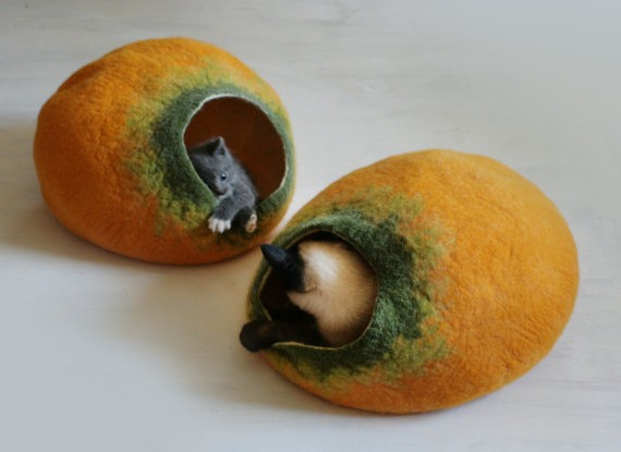 felted-cat-beds